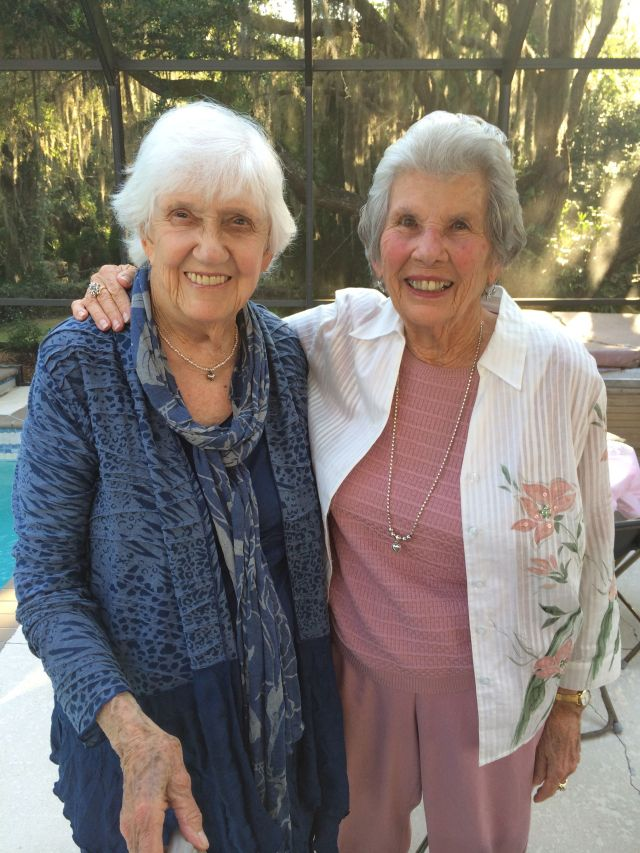 Both of Laura's grandmothers are here for the wedding: Phyllis and Jean's mom, Anna.