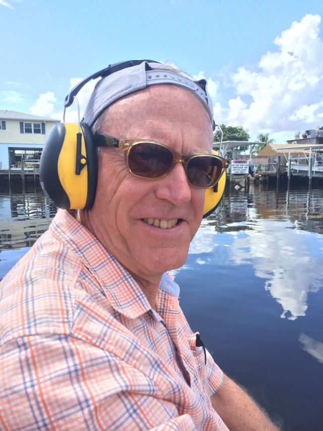They gave us headsets, but I'm still pretty sure I have a permanent hearing deficit after our airboat ride.