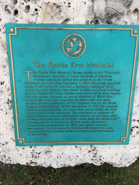 The Florida Keys Memorial remembers the losses of the September 2, 1935 hurricane.