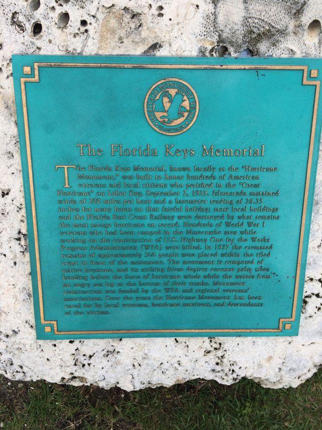 The Florida Keys Memorial remembers the losses of the September 2, 1935 hurricane.