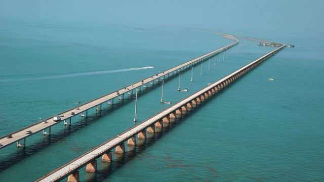 The Overseas Highway: 130 miles and 42 bridges between Key Largo and Key West.