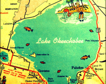 I'll wager a guess that Okeechobee is a Native American word for Mosquito. (image from easy.com)