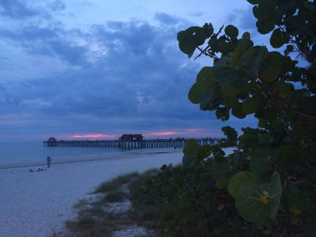 The Naples, FL pier at sunset.