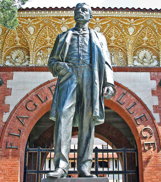 Larger than life: Flagler's stamp is all over Florida. This statue of him is located in St. Augustine.