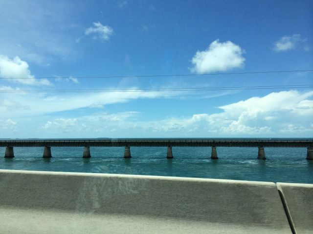 You can see the old railroad bridges from the side of the Overseas Highway.