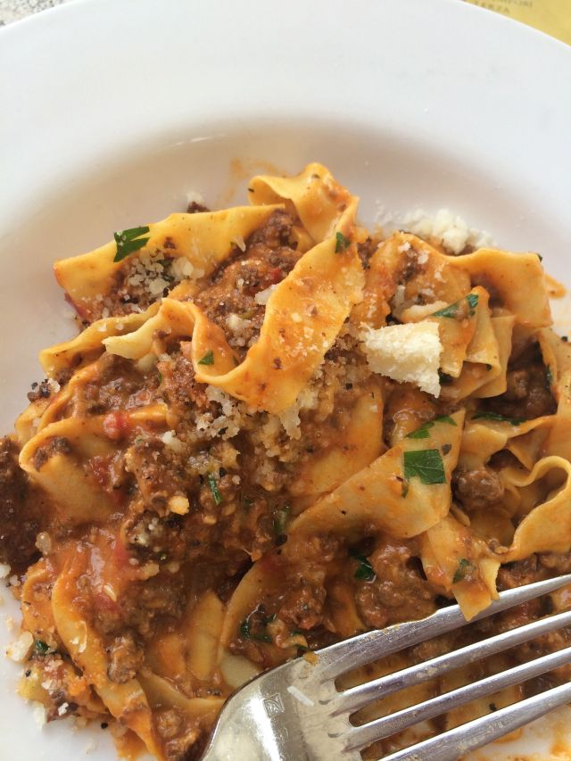 Loved the Tagliatelle with Spicy Lamb Sausage Bolognese