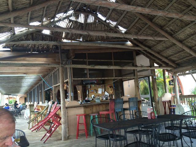 "We had lunch on the ""cabana"" at the Seafood Depot."