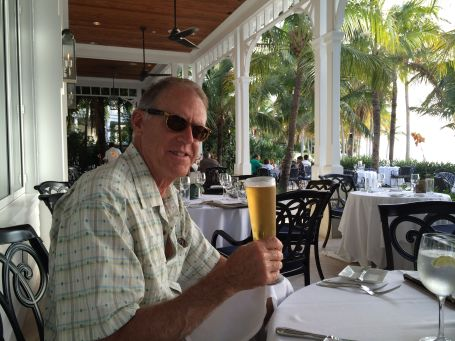 The CE relaxes at Latitudes after a long day of touring Key West.