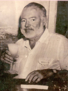 Hemingway with a daiquiri. Cheers!