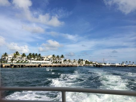 Looking back at Front Street from the boat headed to Sunset Key
