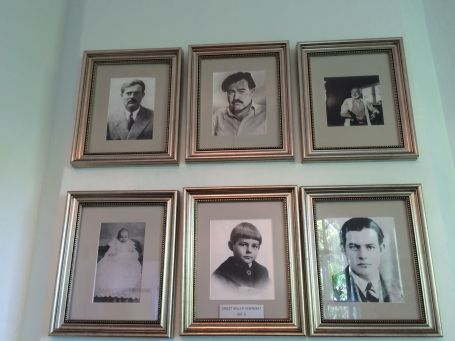 Family photos line the walls of the home.