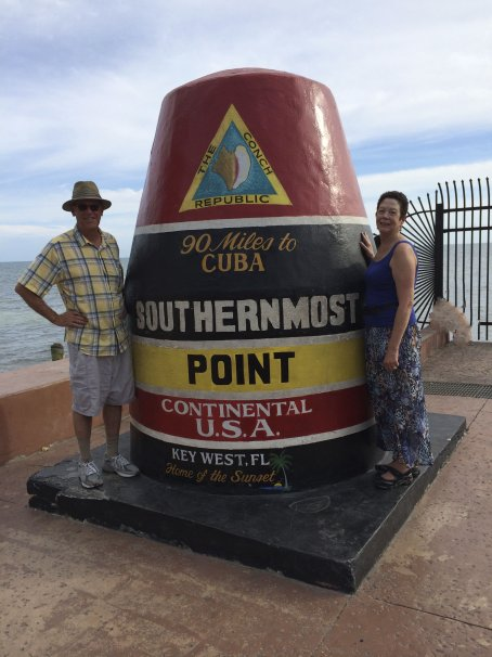 Obligatory cheesy tourist photo: 90 miles to Cuba!