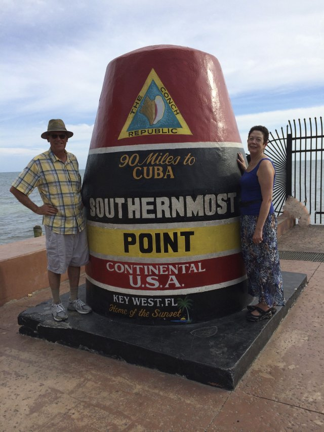 Obligatory cheesy tourist photo: 90 miles to Cuba!