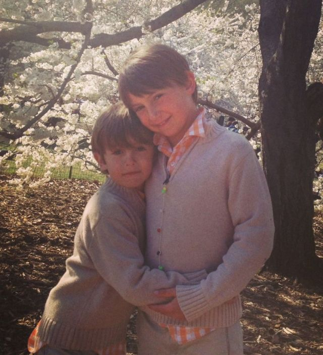 James and Thomas in one of their more angelic moments.