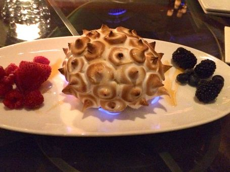 First night splurge: we shared this Baked Alaska for dessert at HMF.