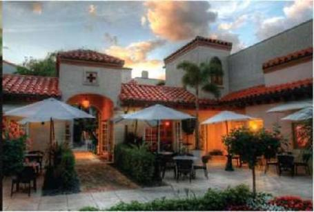 The charming courtyard at Cafe Via Flora in Palm Beach. (tripadvisor image)