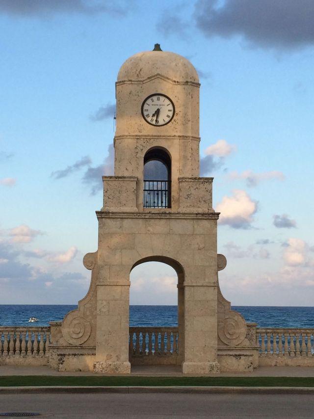 Palm Beach landmark: the clock tower on Worth Avenue.