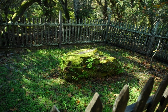 Jack London's gravesite at Jack London State Historic Park (image from jacklondonpark.com)