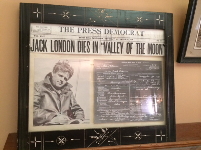 Jack London's Press Democrat death announcement .