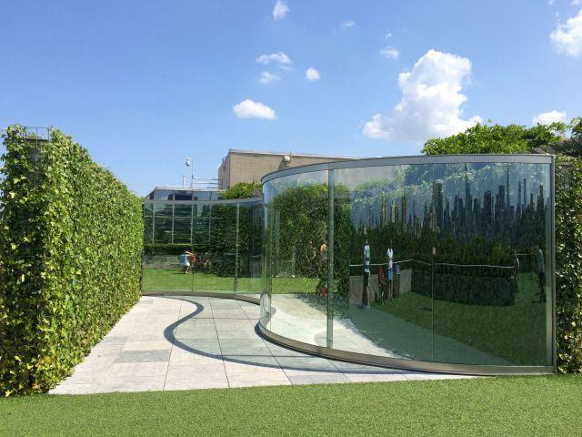 Saw the Dan Graham roof garden at The Met.