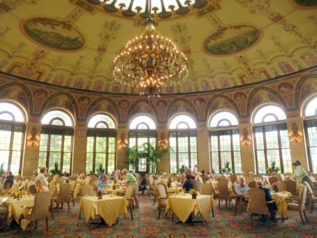 Morning coffee in The Circle dining room is one of my favorite memories of The Breakers. (image from moretimetotravel.com)