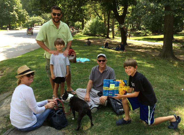 We got to celebrate Thomas' and Bobby's birthdays in the Park.