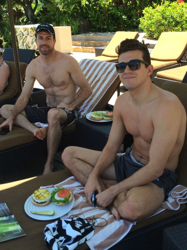 Lunch by the pool.