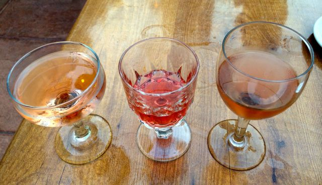 I also enjoyed their flight of Rose wines. L to R, from Mathis, Imagry and Cochon vineyards.