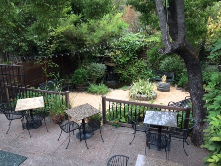 """It looks unremarkable from the outside, but the Glen Ellen Inn restaurant has a beautiful """"secret garden""""."""