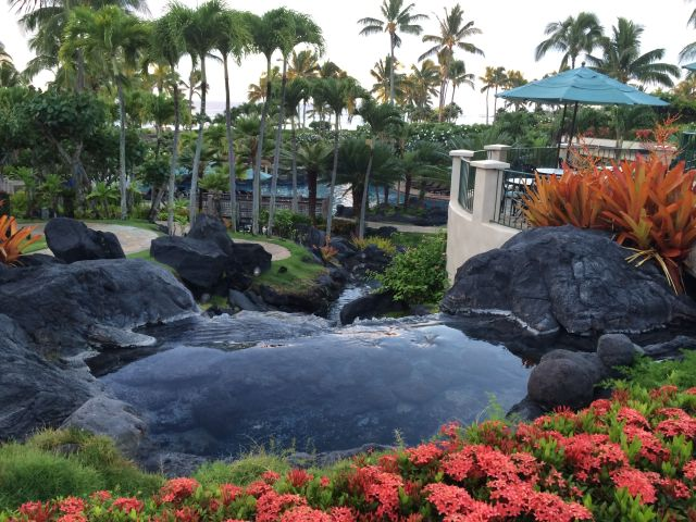 Another view of the pool at the Grand Hyatt Kauai.