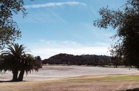 Laguna Blanca today, a casualty of the California drought.