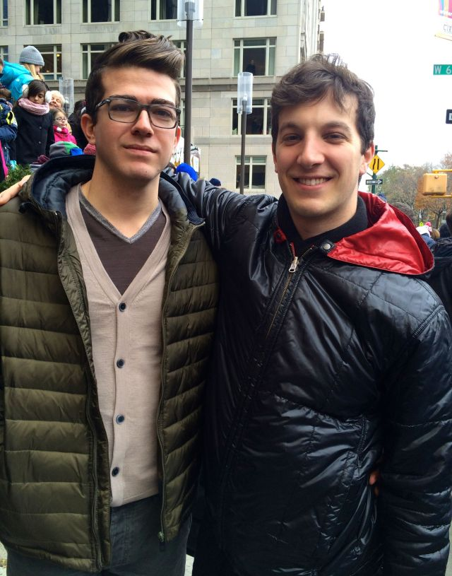 Daniel and Chris at the parade.