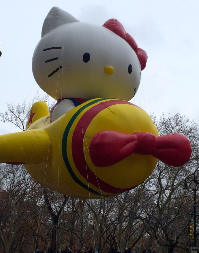 A favorite Macys parade balloon: Hello Kitty