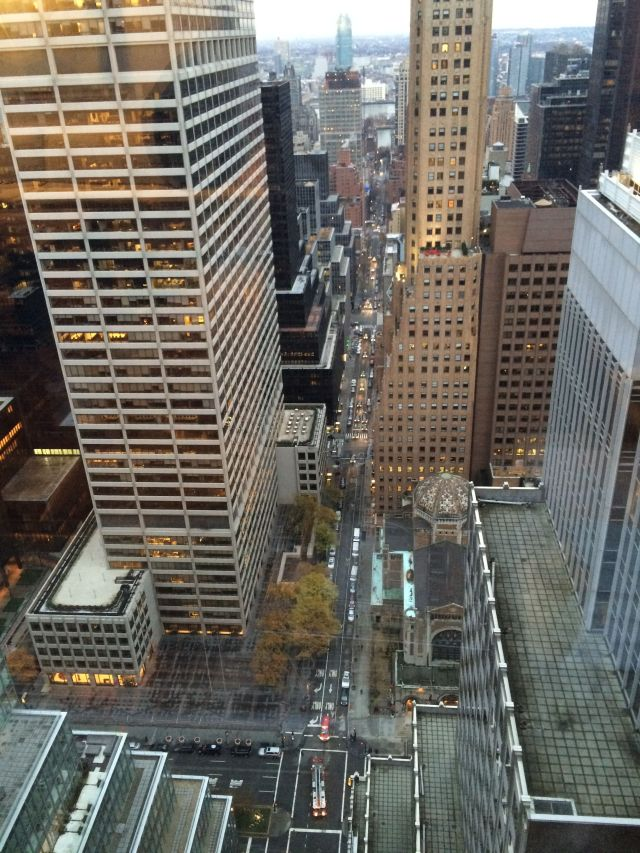 View from 46 stories up.