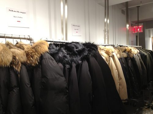 A Mackage sample sale in NYC: one way to get a good price on a puffer (image from ny.racked.com)