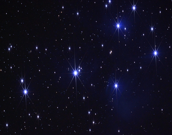 The Pleiades star cluster (image from edhat.com)