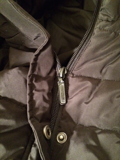 Zip it up: when purchasing a puffer, make sure the zipper is a good one.