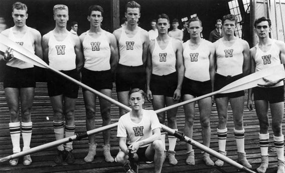 The 1936 team from University of Washington that rowed into history. (image from slate.com)