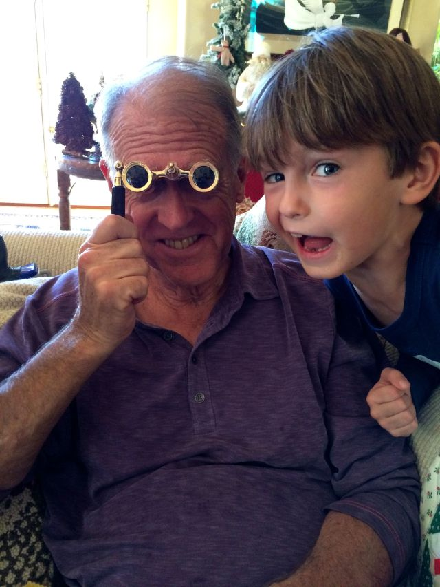 Grandpa got some opera glasses for when we're in the cheap seats at the Met.