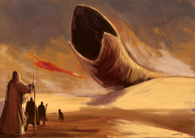 The worm turns. Dune, by Frank Herbert, is a sci-fi classic (image from pop-culture-y.com)