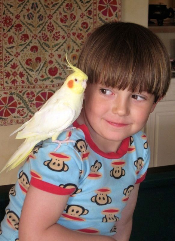 Birdie with a much younger Thomas.