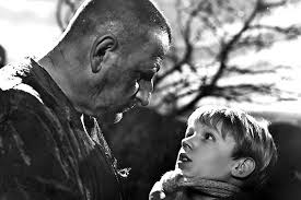 Pip meets the convict Abel Magwitch in David Lean's 1946 film of Great Expectations. (image from glogster.com)