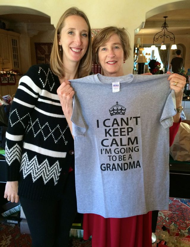And finally the big secret is out! Congrats to Alexandra, Andy and the grandparents-to-be!