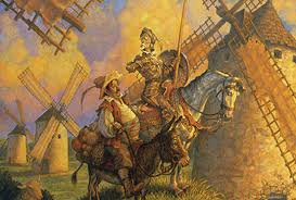 Sancho Panza and Don Quixote: not my favorite read (image from visual-editions.com)