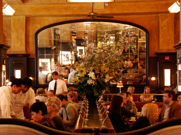 Mirror, mirror, on the wall: one of these toppled onto diners at Balthazar last week. (image from cuturedivine.com)