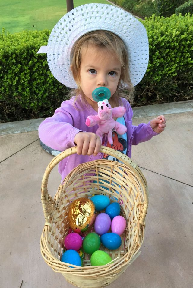 Caleigh caught on very quickly to the Easter traditions!