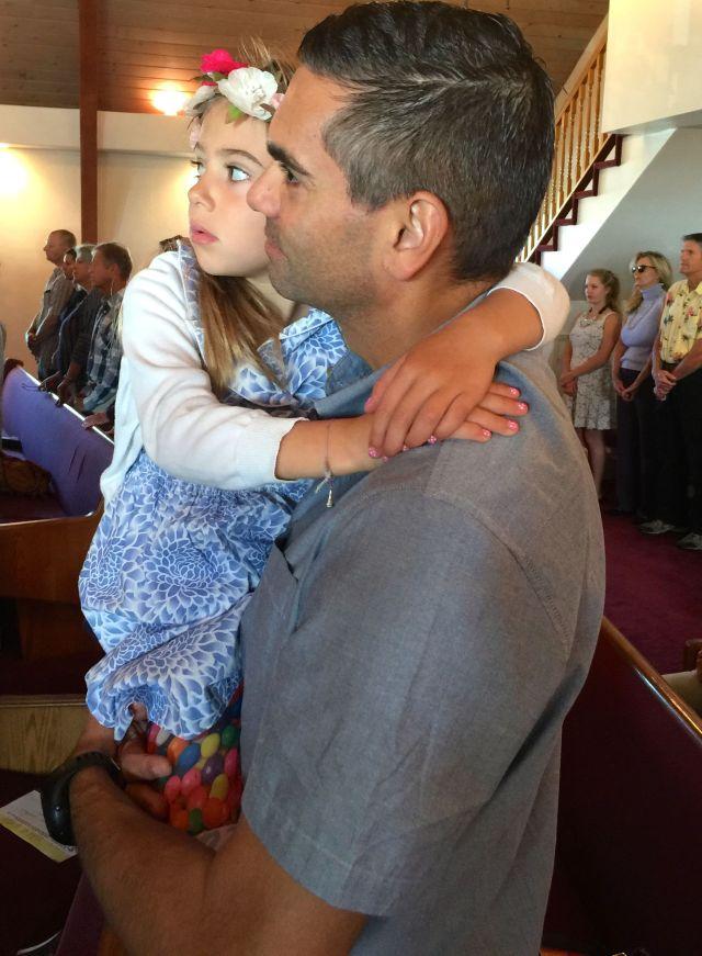 John and Viv at church on Easter Sunday