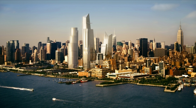 The Hudson Yards project will re-define the Hudson River skyline. (Bloomberg photo)