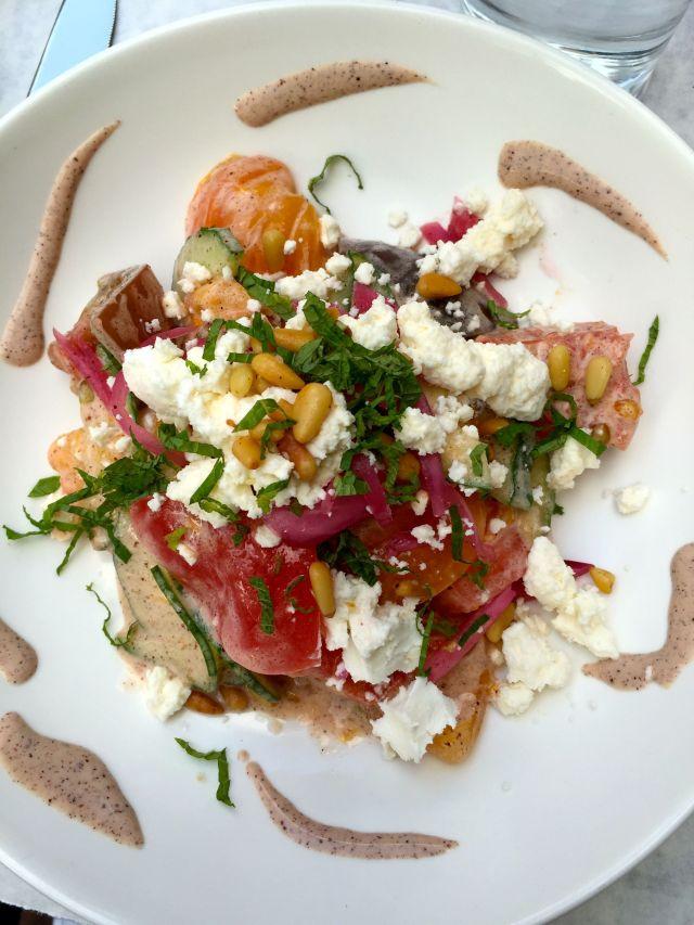 Tomato salad at Ella Kitchen & Bar