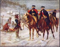George Washington and the Marquis de Lafayette at Valley Forge (wikipedia image)